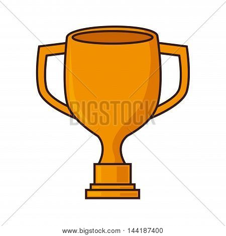 winner cup trophy sport competition championship award vector illustration