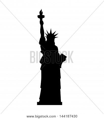 liberty statue building in manhattan united states of america usa vector illustration