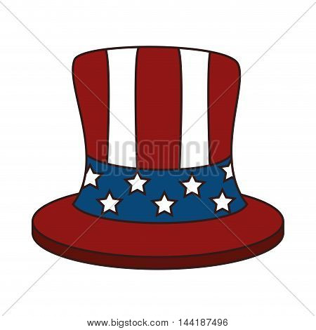 hat accesory of usa flag celebration patriot vector illustration