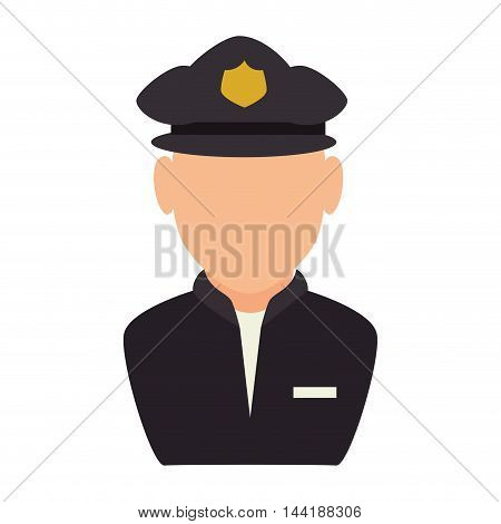 police man traffic officer law security vector illustration