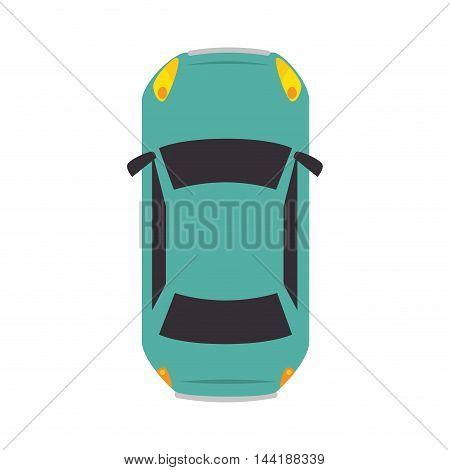 car vehicle transportation automobile top view vector illustration
