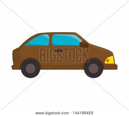 car vehicle transportation automobile view vector illustration