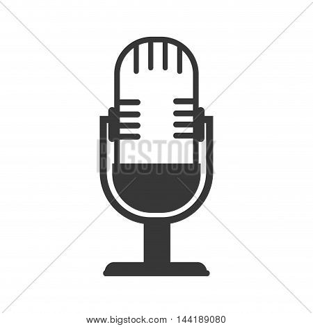 microphone for radio communication device retro object vector illustration
