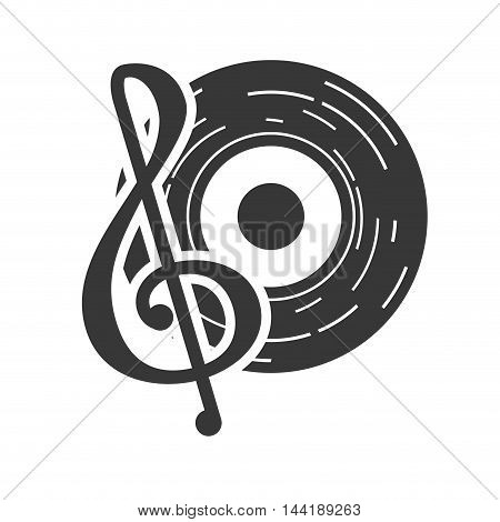 vinyl note musical party music record symbols icon vector illustration
