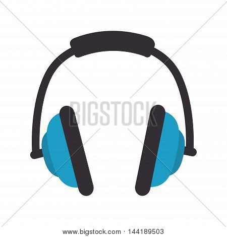 music headphone technology and electronic device vector illustration