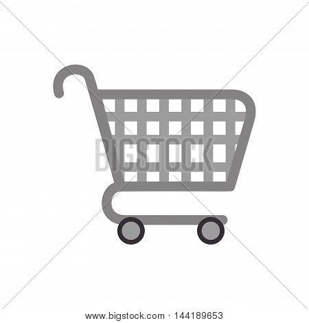 shopping cart supermarket purchase element vector illustration