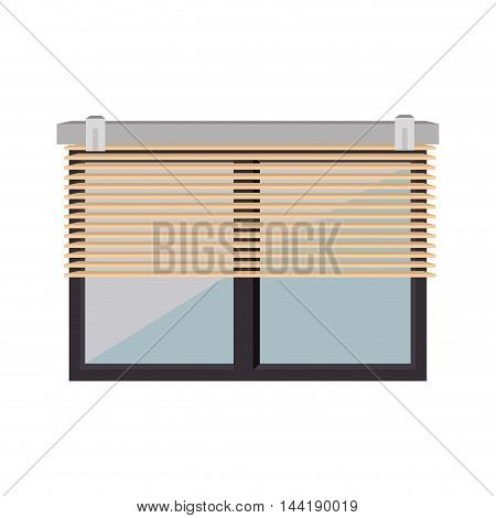 window blind or louvers modern  office and house elements vector illustration