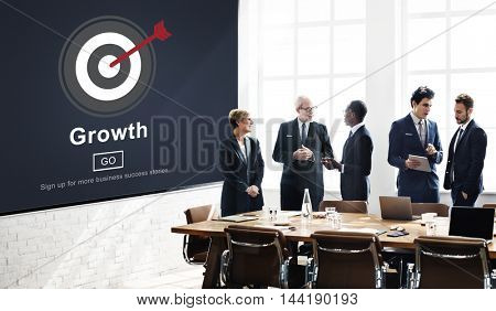 Growth Improvement Business Forward Process Concept