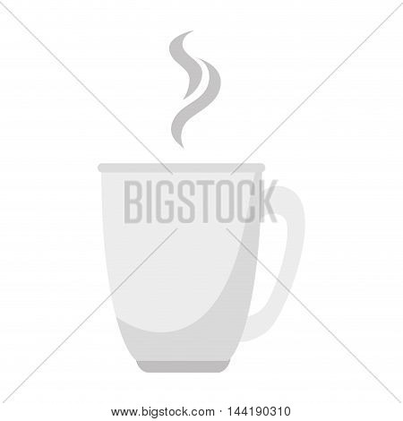 delicious coffee or tea served in a hot cup vector illustration