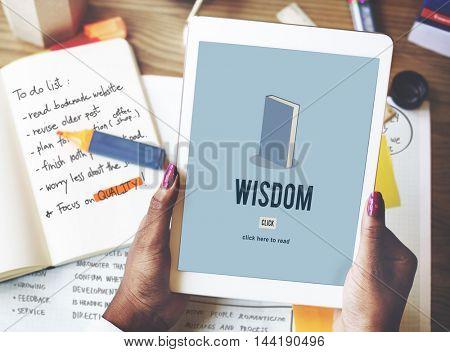 Wisdom Education Knowledge Book Study Concept