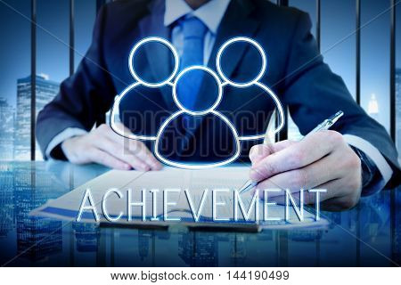 Achievement Team Leadership Partnership Concept