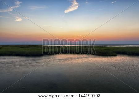 Grey's Beach at sunset in Cape Cod Mass
