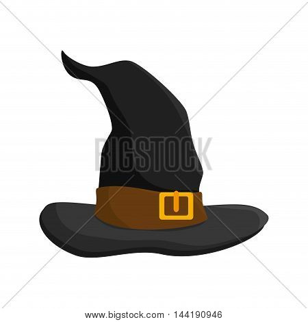 witch costume hat halloween clothes object vector illustration