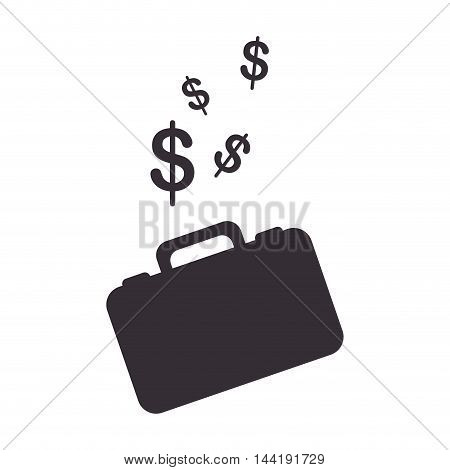man briefcase with money signal economy and finance vector illustration