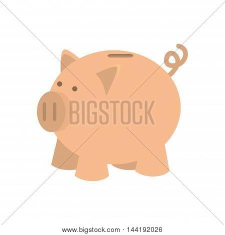 money saving and investment piggy pink moneybox vector illustration