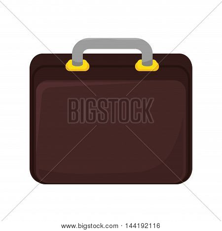 business brown briefcase elegance accesory vector illustration
