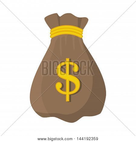 bag  sack money sign economy finance vector illustration