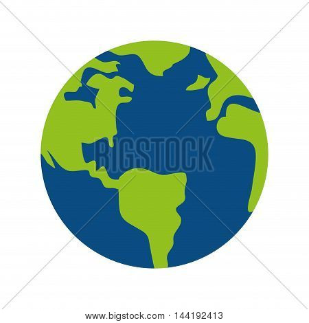 earth world globe map planet geography design vector illustration