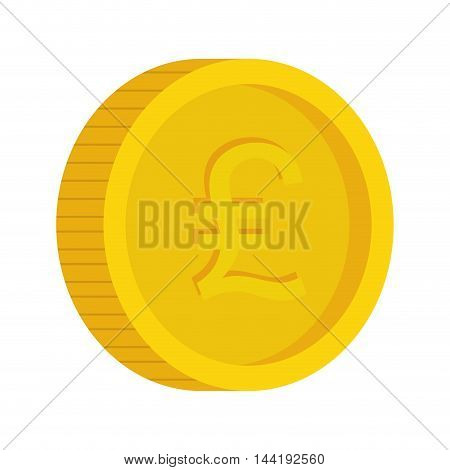 money coins in gold color with money sign vector illustration