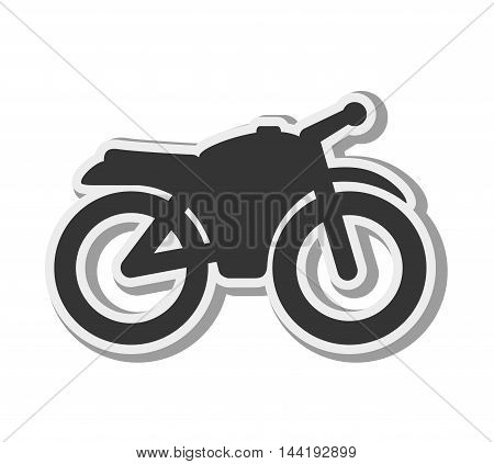 transport vehicle sport motorcycle motorbike silhouette vector illustration