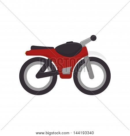 transport vehicle sport red motorcycle motorbike vector illustration