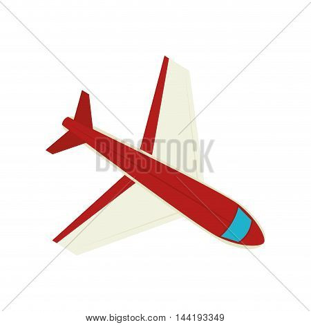 airplane vehicle travel transportation flying vector illustration