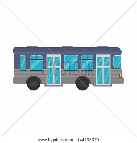 transport vehicle bus urban travel transportation vector illustration