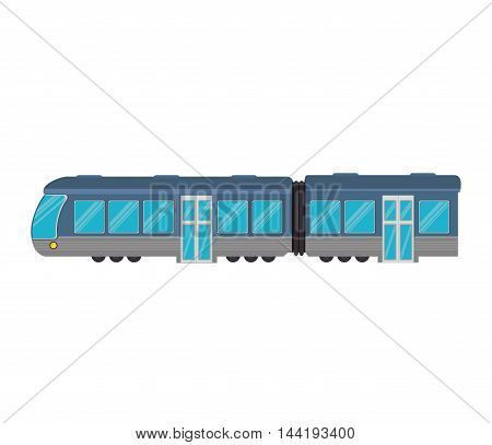 transportation vehicle public train underground railway vector illustration