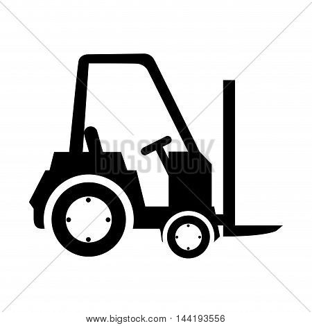 forklift cargo truck industry and construction equipment vector illustration