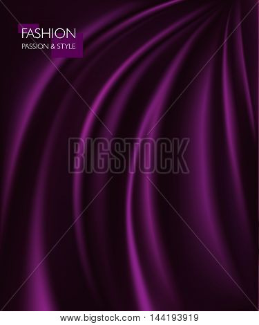 vector illustration of smooth elegant luxury purple silk or satin texture. Can be used as background.