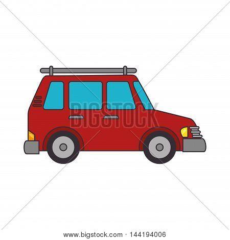 car red suv transport vehicle automobile  auto vector illustration
