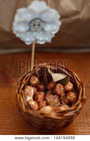 Walnuts In A Brown Kraft Paper Bag