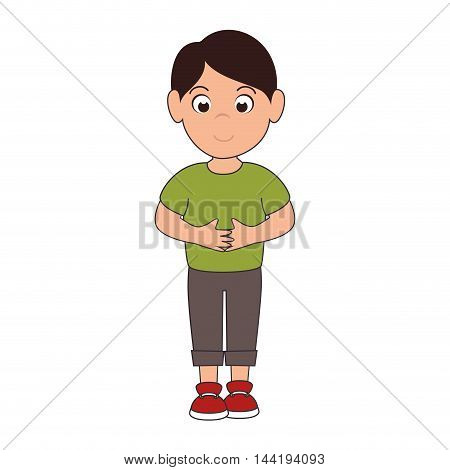 little boy smiling smile hapiness kid child cute fun vector illustration