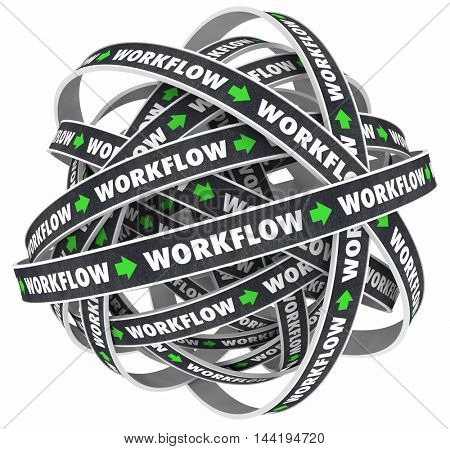 Workflow Process Procedure Loop Instructions 3d Illustration