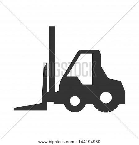 forklift truck construction machinary vehicle silhouette vector illustration