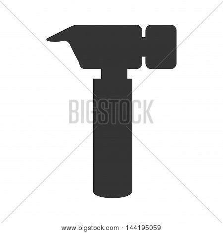 hammer tool repair electronic construction device silhouette vector illustration