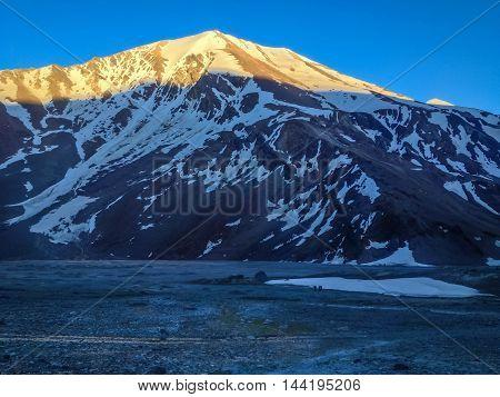 Manali - Sarchu camp - Leh Ladakh highway road in India
