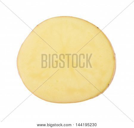 Closeup potato isolated on white background. food