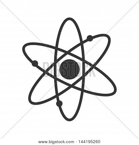 atom chemical element science and education symbol vector illustration