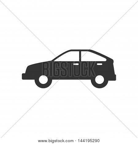 automobile car transport vehicle hatchback style silhouettevector illustration