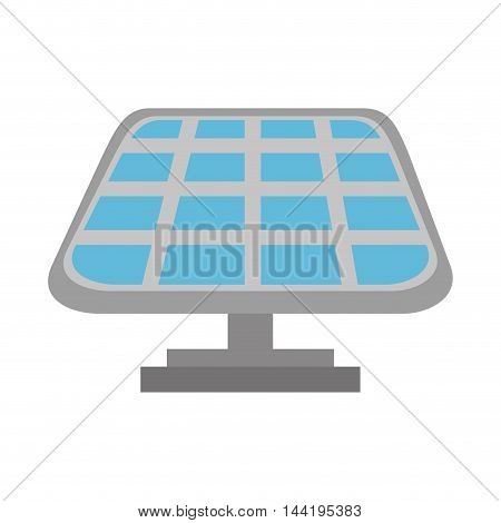 solar panel light power electricity ecology save environmental vector illustration