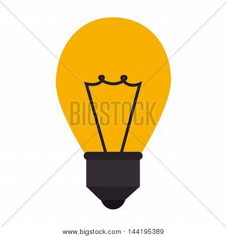 bulb power light energy electricity efficient object  vector illustration isolated