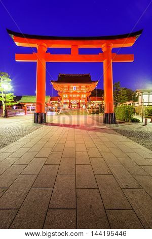 Fushimi Inari Grand Shrine in Kyoto, Japan.