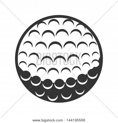 golf ball sport game club activity silhouette vector illustration