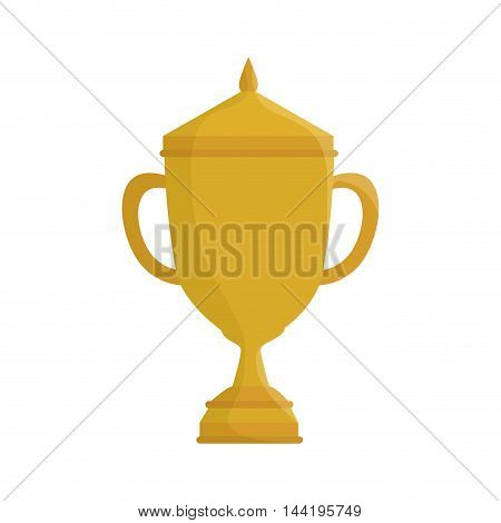 trophy gold cup winner award first place vector illustration