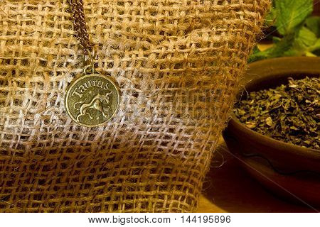 The zodiacal symbol of Taurus the symbol corresponds to spice mint.