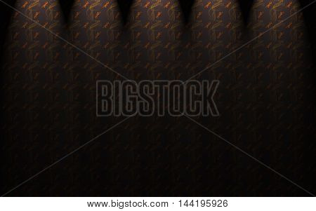 Dark curtains with spotlights and smoke pattern
