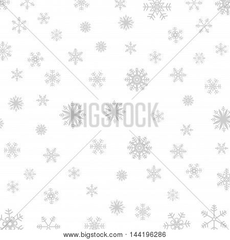 winter season snowflake gray background  cold nature vector illustration