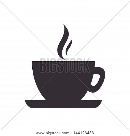 coffee cup hot drink mug beverage silhouette vector illustration
