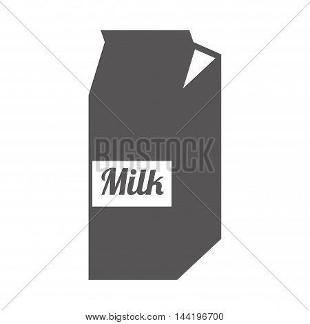 milk box carton package drink liquid silhouette vector illustration